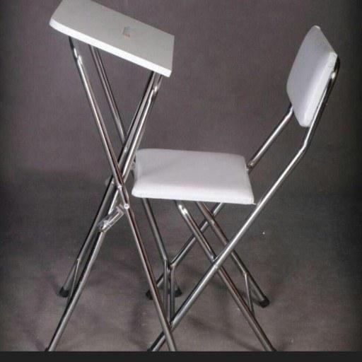 میز صندلی نماز تاشو سفید کد 5
