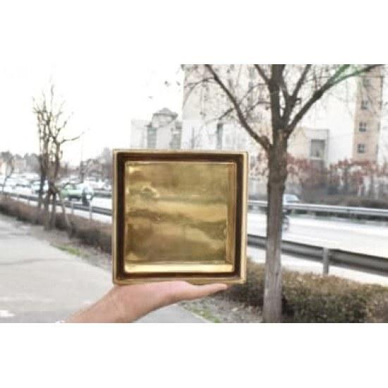 تصویر بلوک شیشه ای کاوه مدل ساده (کلرویو )برنز