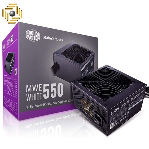 تصویر منبع تغذیه کامپیوتر کولر مستر مدل MWE white 550