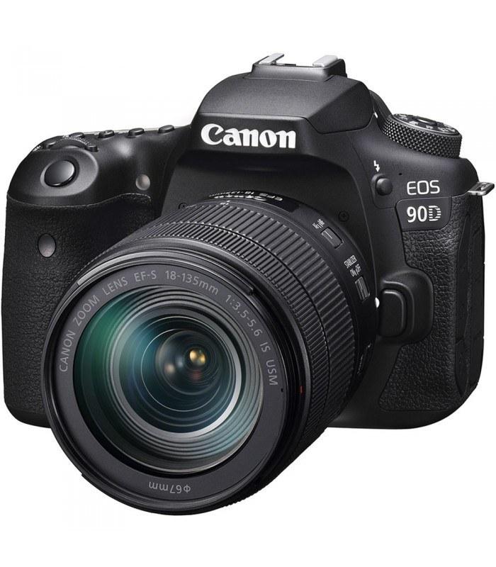 تصویر دوربین دیجیتال کانن مدل EOS 90D به همراه لنز  135-18 میلی متر  IS USM Canon EOS 90D Digital Camera With 18-135mm IS USM Lens