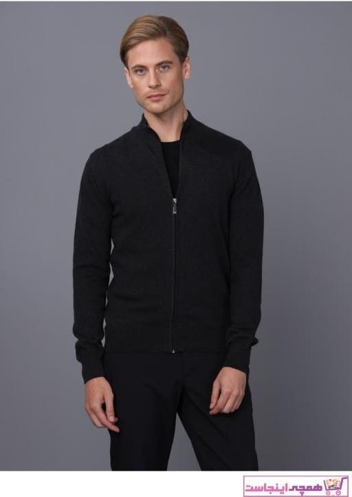 تصویر فروش ژاکت بافتی مردانه خفن برند Basics&More رنگ مشکی کد ty57034123