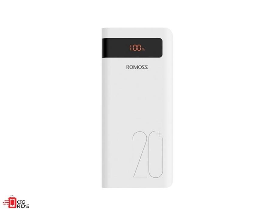 تصویر شارژ همراه روموس مدل  Sense6ps Plus ظرفیت 20000میلی آمپر ساعت دارای قابلیت PD با توان 18وات Romoss Sense6ps plus 20000mAh