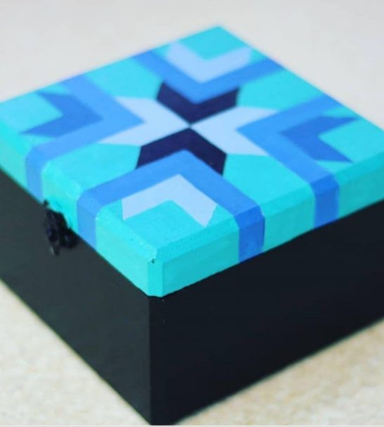 جعبه فانتزی چوبی نقاشی شده با دست