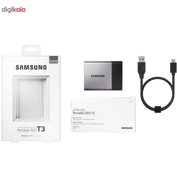 تصویر حافظه SSD اکسترنال سامسونگ مدل T3 ظرفیت 500 گیگابایت Samsung T3 External SSD - 500GB