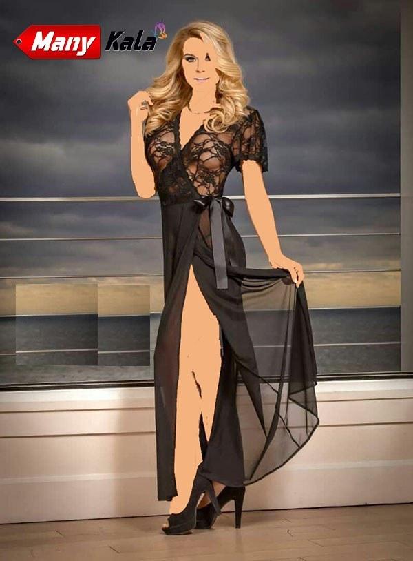 لباس خواب جلو باز دانتل حریر VITARITA (کد:v226)