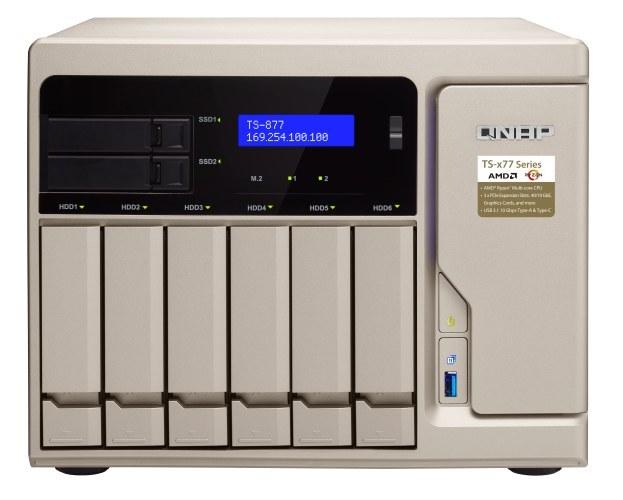 ذخیره ساز تحت شبکه کیونپ مدل TS-۸۷۷-۱۶۰۰-۸G   QNAP TS-877-1600-8G 8GB 8Bay Diskless NAS