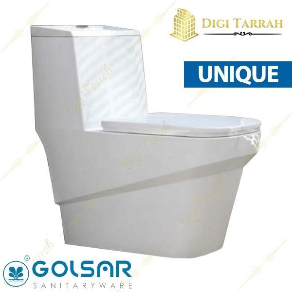 تصویر توالت فرنگی یونیک گلسار فارس Unik Toilet