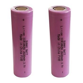 باتری قابل شارژ سایز 18650 سانی بت ظرفیت 2600 میلی آمپر بسته 2 عددی |
