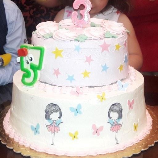 کیک تولد خامه ای