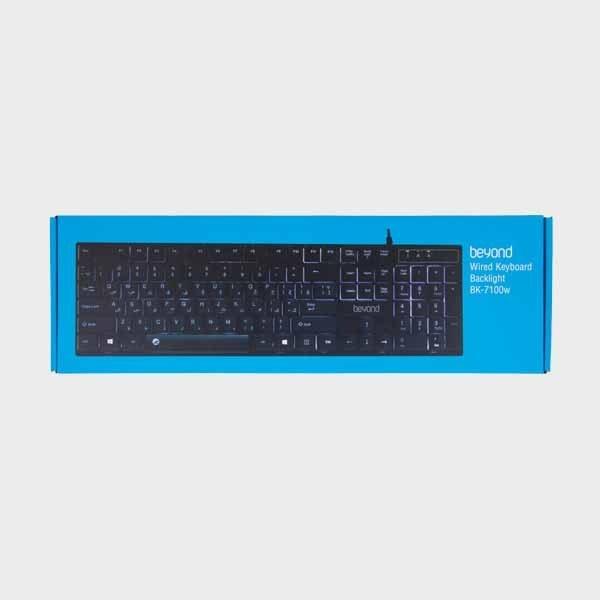 تصویر کیبورد باسیم مدل BK-7100w بیاند BK-7100w cable keyboard