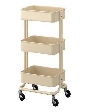 تصویر IKEA ترولی کرمی ایکیا مدل RASKOG