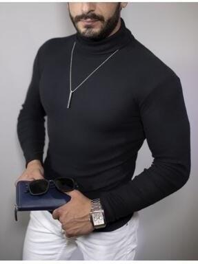 تصویر پلیور مردانه سال ۹۹ برند EKZMODA رنگ مشکی کد ty55077466