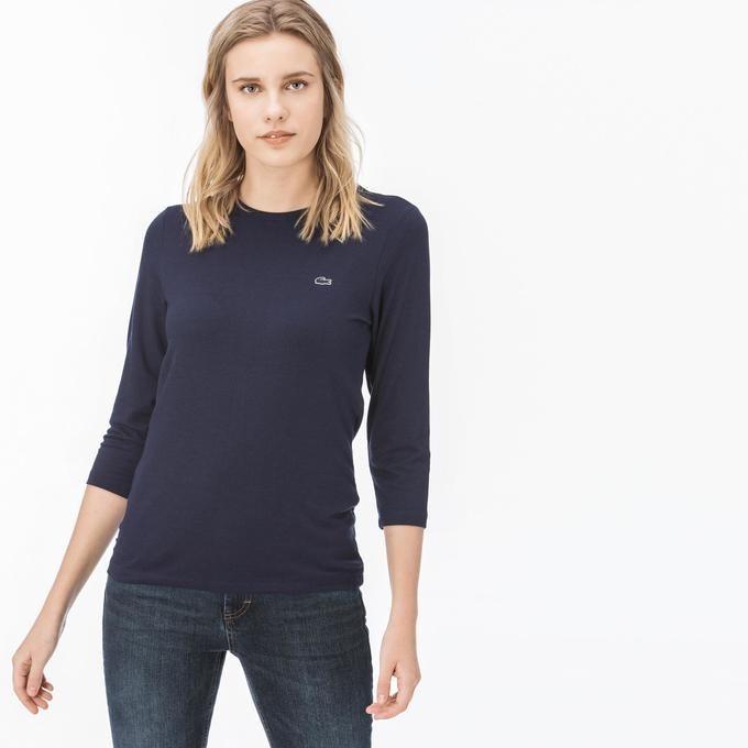 تی شرت آستین بلند زنانه لاکوست | تی شرت آستین بلند لاکوست با کد TF0918.18L-T38