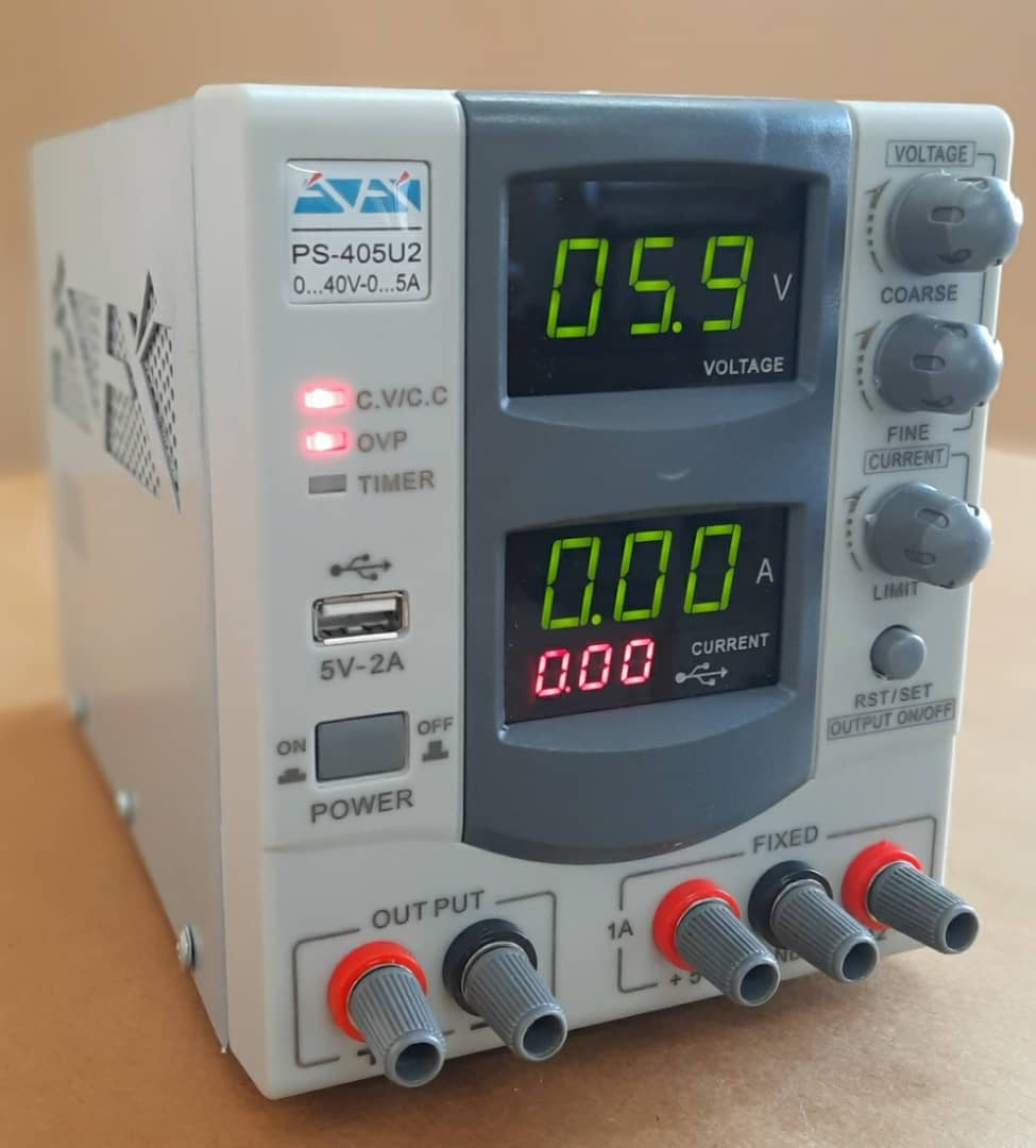تصویر منبع تغذیه آداک PS-405U2 40V , 5A + USB ADAK PS-405U2 Linear Power Supply