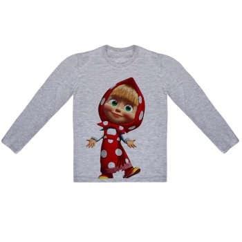 تی شرت آستین بلند دخترانه طرح خانم کوچولو کد AR03 |