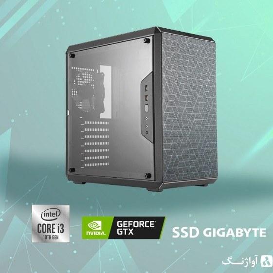 تصویر کیس اسمبل شده کولر مستر مدل Q500L - GTX 1050Ti /i3 10100/SSD 256 Cooler Master Assembled Q500L - GTX 1050Ti /i3 10100/SSD 256