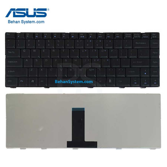 تصویر کیبورد لپ تاپ ASUS مدل F83 به همراه لیبل کیبورد فارسی جدا گانه