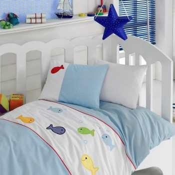 سرویس ملحفه کودک کاتن باکس طرح Akvaryum یک نفره 4 تکه | Cotton Box Akvaryum Child Bedsheet Set 1 Person 4 Pcs