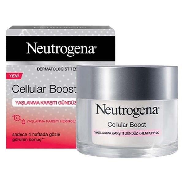 تصویر کرم روز ضد پیری و ضد چروک نیتروژنا مدل Cellular Boost حجم ۵۰ میلی لیتر Neutrogena Cellular Boost anti-age day Cream 50ml