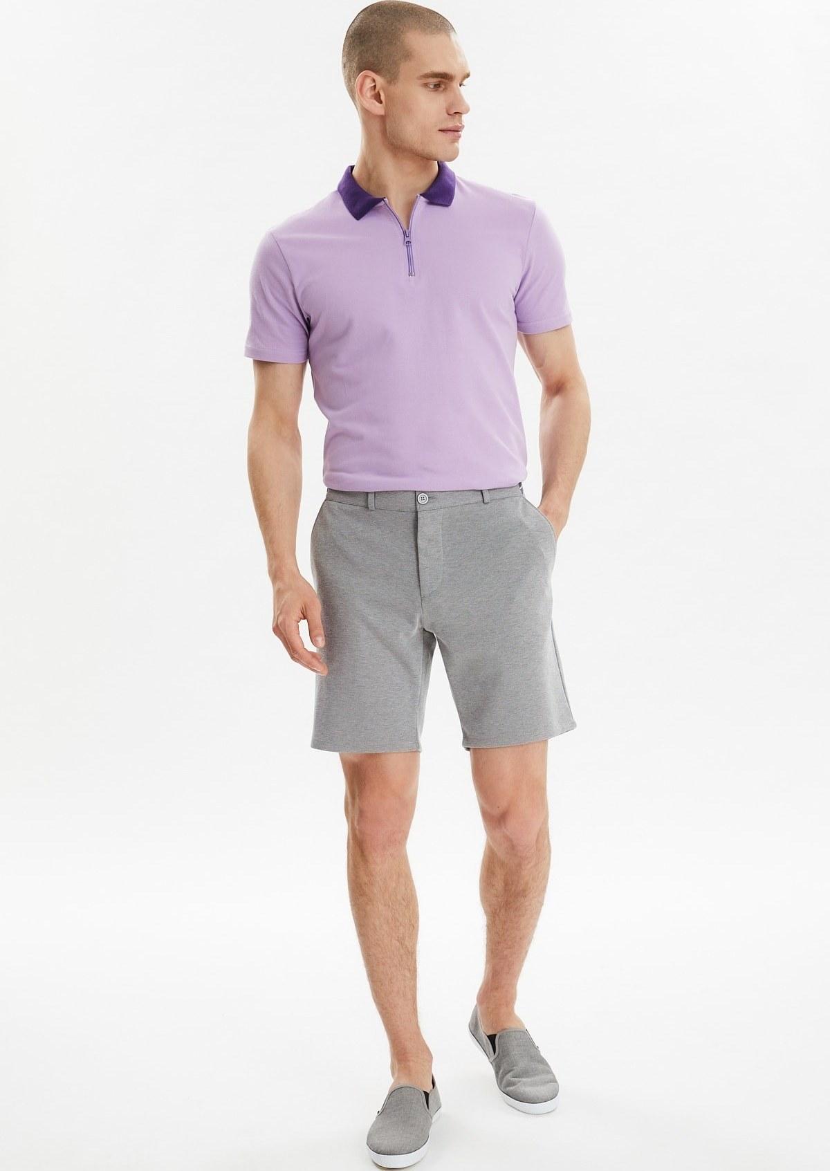 تصویر مدل شلوارک مردانه برند ترندیول مرد رنگ نقره ای کد ty37770841
