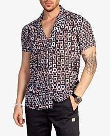 پیراهن طرح هاوایی مردانه Catch کد 8631 |