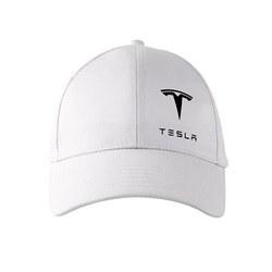 تصویر کلاه کتان سفید تسلا