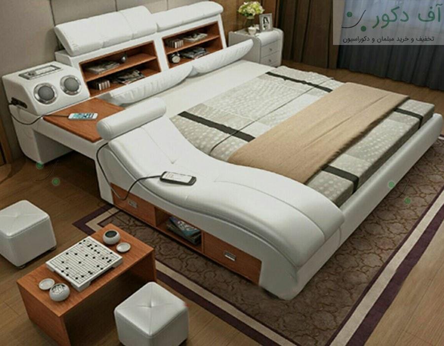 تخت خواب دو نفره ماساژور هوشمند لوگانو |