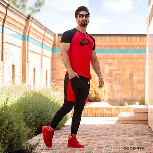 ست تیشرت و شلوار مردانه Nike مدل M9701  