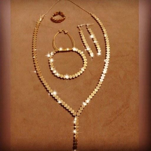 عکس ست گردنبند ، دستبند و انگشتر و گوشواره حدید قلب  ست-گردنبند-دستبند-و-انگشتر-و-گوشواره-حدید-قلب