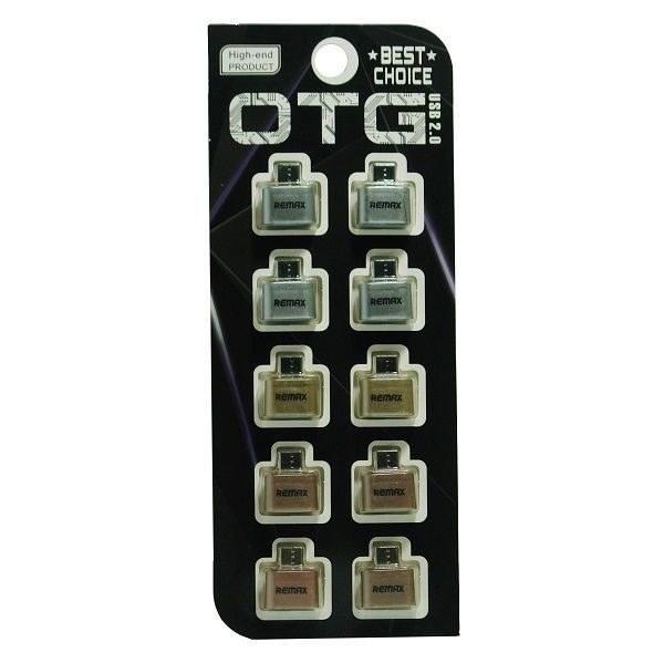 تصویر تبدیل OTG مدل REMAX پک ده تایی Remax RA-OTG Adapter