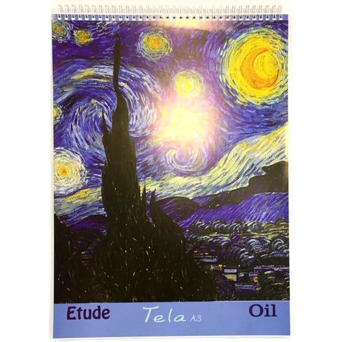 تصویر دفتر Tela مخصوص رنگ روغن A3 Etude
