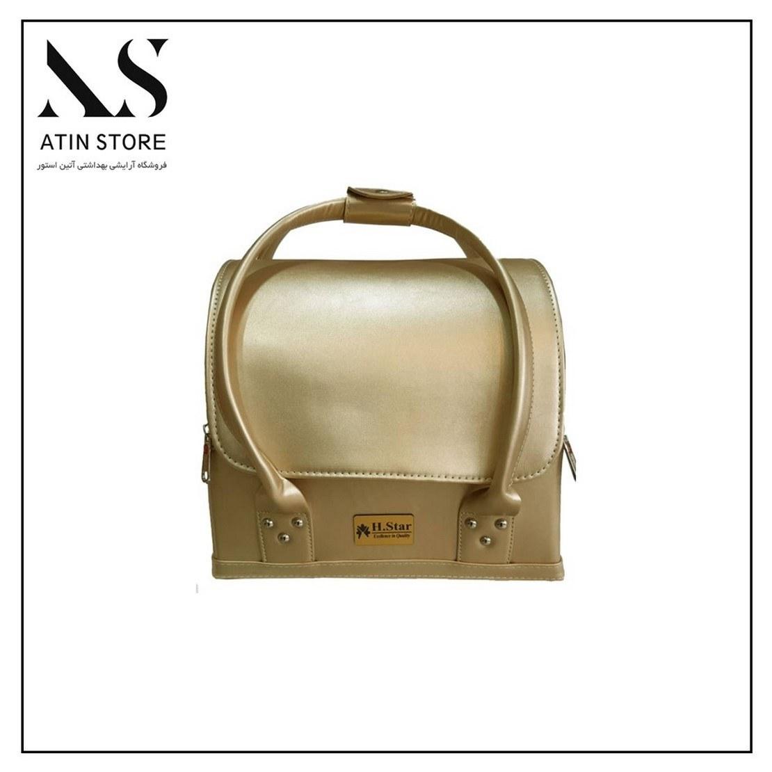 تصویر کیف طبقاتی چرمی E.M طلایی