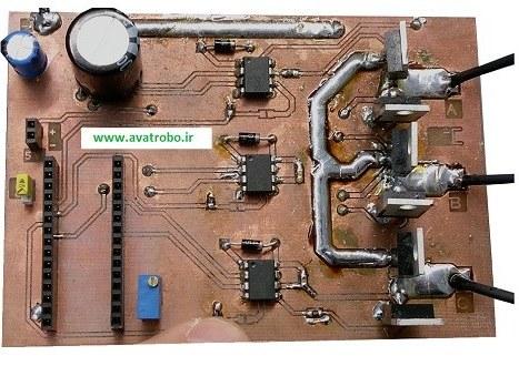 تصویر پروژه اسپیدکنترلر موتور براشلس ۲ ( بدون سنسور )