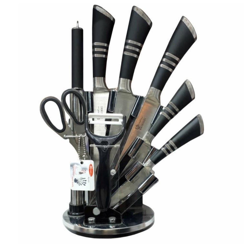 تصویر سرویس چاقو آشپزخانه 9 پارچه فوما مدل FU-533
