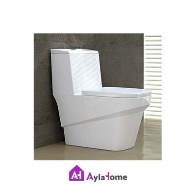 تصویر توالت فرنگی گلسار مدل یونیک درجه دو