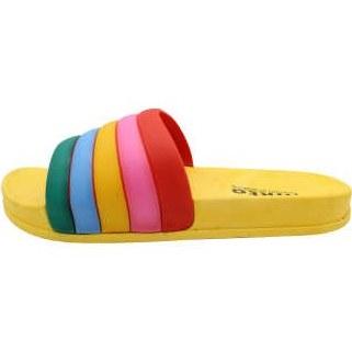 دمپایی دخترانه نیکتا طرح رنگین کمان کد K1-304-YW |