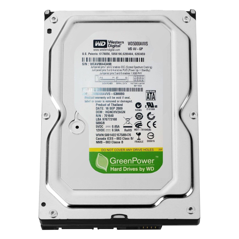 تصویر هارد ديسک  ظرفیت اینترنال  500 گیگابایت  وسترن ديجيتال-ریفر (Western Digital 500 GB Cache Internal Ha)
