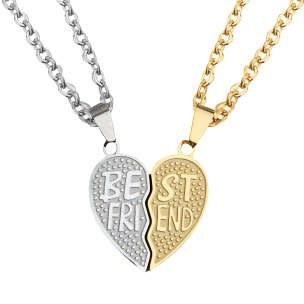 گردنبند زنانه طرح قلب کد sh01 مجموعه دو عددی  