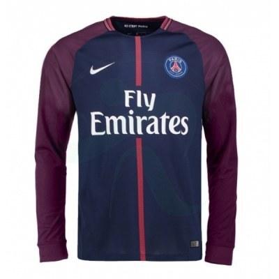 پیراهن اول پاریسن ژرمن آستین دار Paris Saint Germain 2017-18 Home Soccer Jersey Long Sleeve