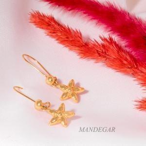 تصویر گوشواره طلا دخترانه گل