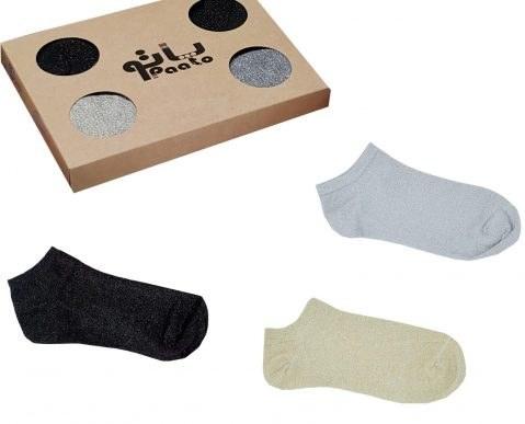 جوراب لمه زنانه پاتو جعبه ۳ عددی