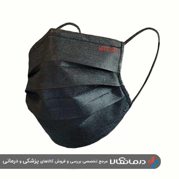 ماسک سه لایه اقتصادی مشکی یحیی کد 999 بسته 10 عددی
