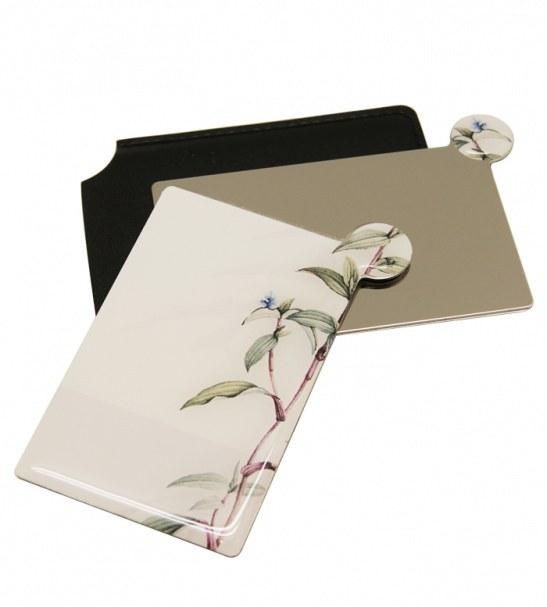 آینه نشکن لوکس به همراه کیف چرمی مینیمال