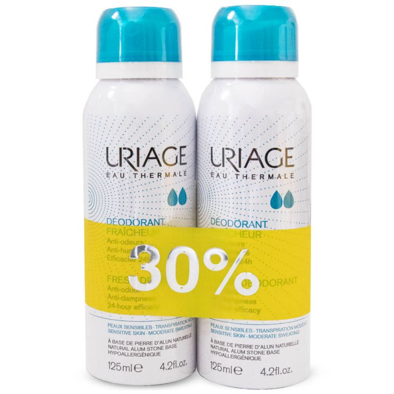 Uriage Fresh Deo Spray 24H Pack Of Two 125ml