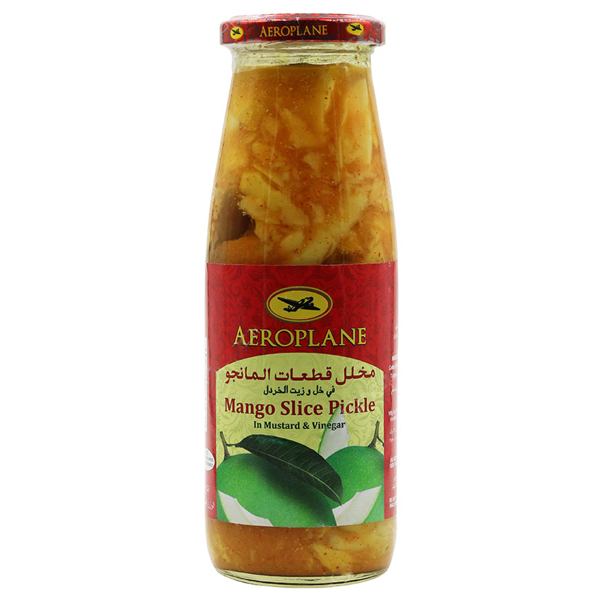ترشی انبه هواپیما مقدار 450 گرم | Aeroplane Mango Sliced Pickle In Mustard And Vinegar