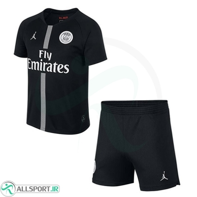 پیراهن شورت سوم پاریسن ژرمن جردن Paris Saint Germain Jordan 2018-19 3rd Soccer Jersey Kit (Shirt+Short)