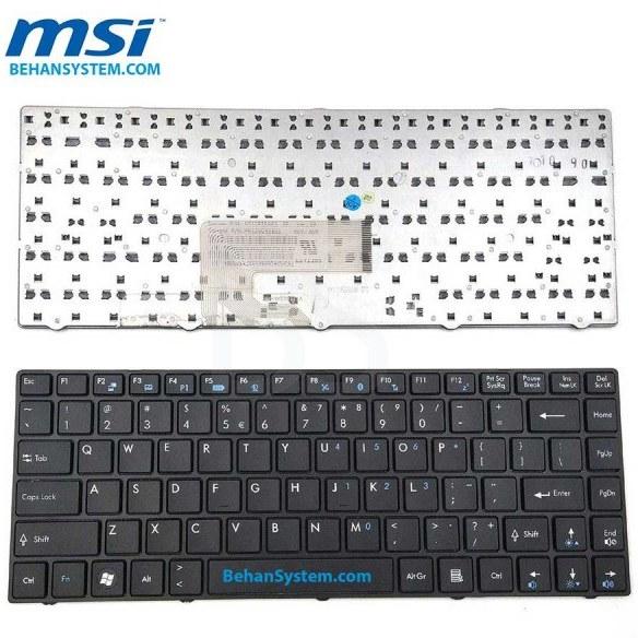 main images کیبورد لپ تاپ MSI مدل CR430 به همراه لیبل کیبورد فارسی جدا گانه