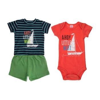 ست 3 تکه لباس نوزادی پسرانه کارترز کد 654  