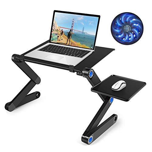 Laptop Table, Adjustable Laptop Bed Table, Portable Laptop Workstation Notebook Stand Reading Holder,Ergonomic Lap Desk TV Bed Tray