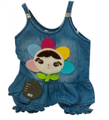 لباس سارافون دخترانه طرح لی با گل |